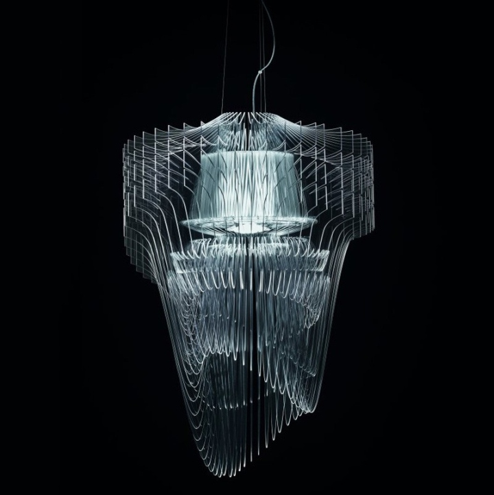 187 Transparent Chandelier By Zaha Hadid For Slamp