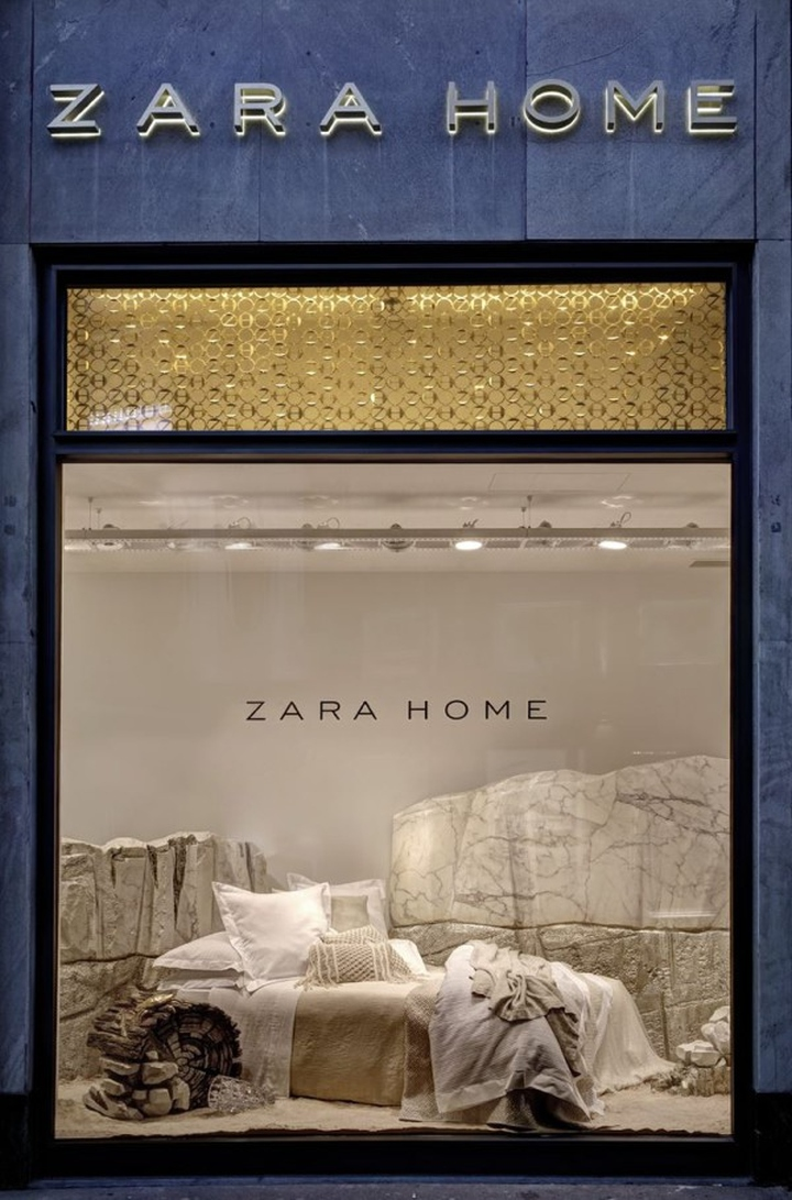 Retail Design Blog Zara Home Windows Milan Italy