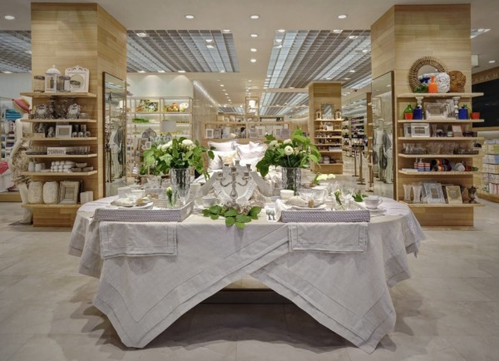 Retail design blog zara home windows milan italy for Table zara home