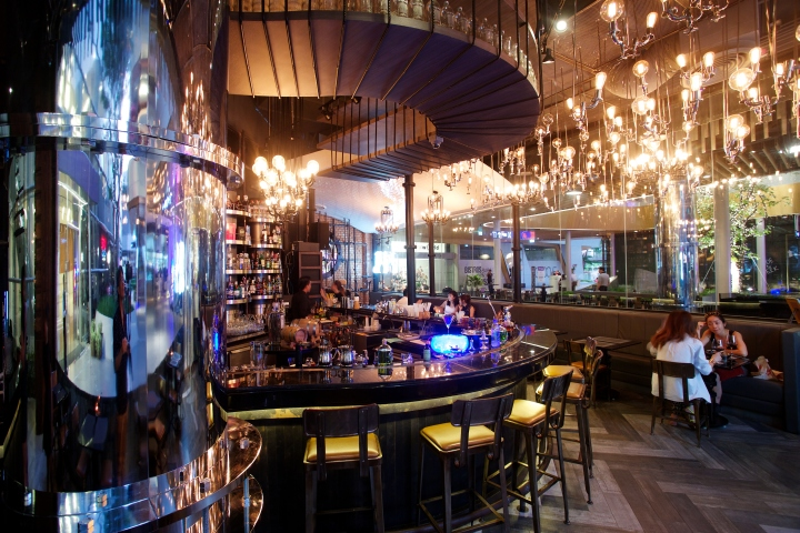 Bar restaurant by party space design at