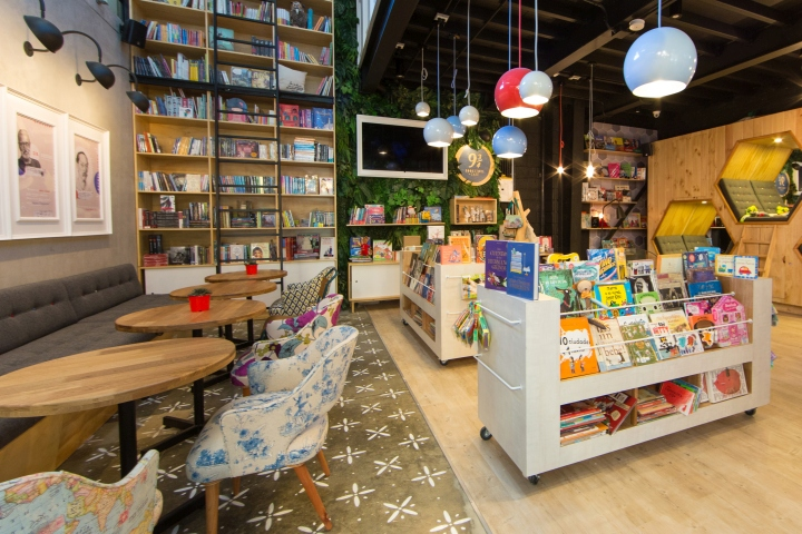 9 3 4 Bookstore Caf Interior Branding By PLASMA NODO At Plaza Pakita Medelln Colombia