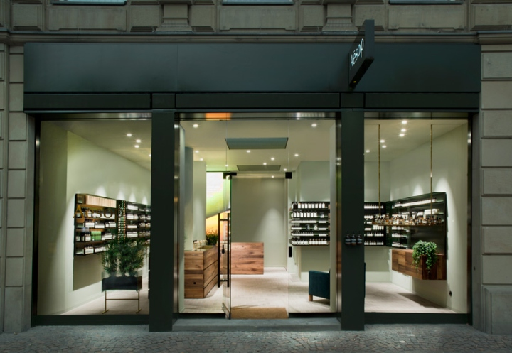 aesop store by philipp mainzer frankfurt germany. Black Bedroom Furniture Sets. Home Design Ideas
