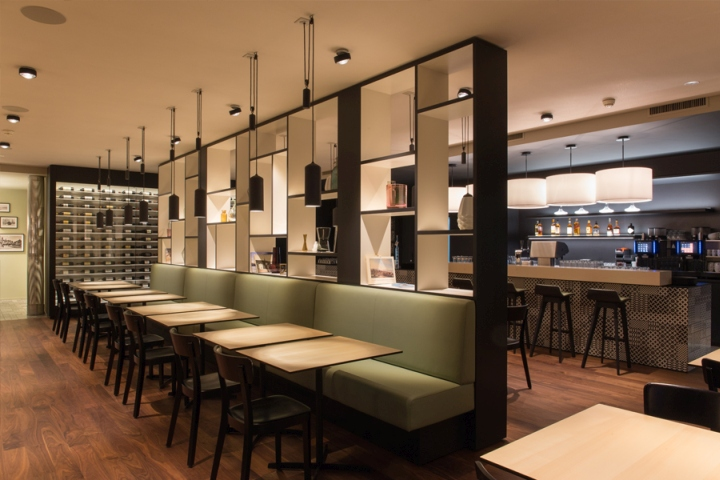 The Design Combines Typical Elements Of A French Brasserie With A Modern  Approach Of Furniture And Material. Originally The Brasseries Had Tiled  Floors, ...