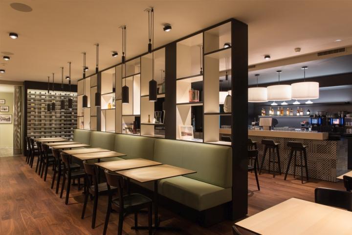 Brasserie l wen restaurant by barmade interior design - Interior leather bar free online ...
