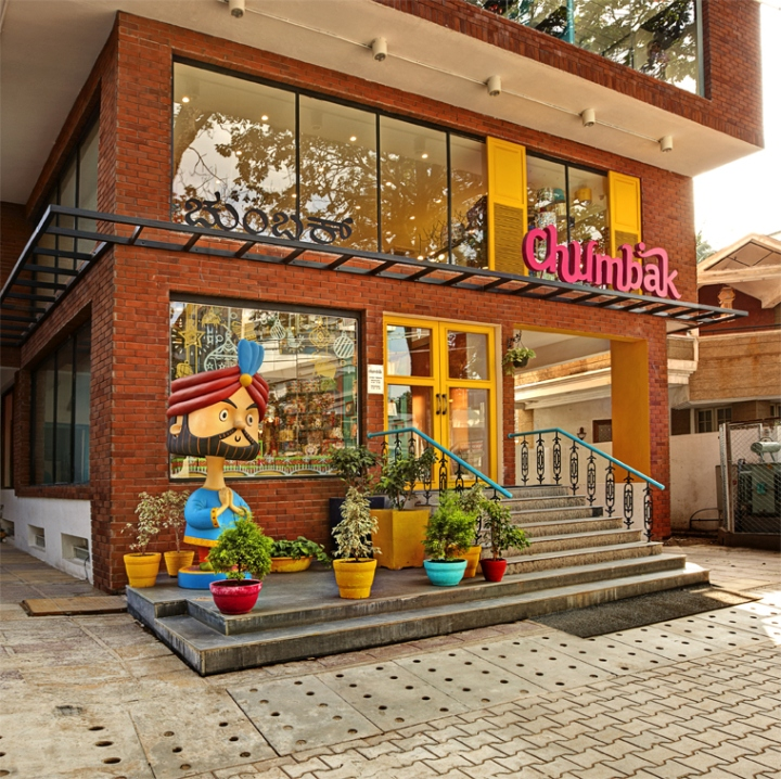Chumbak store by 4d bangalore india retail design blog Home decor wallpaper bangalore