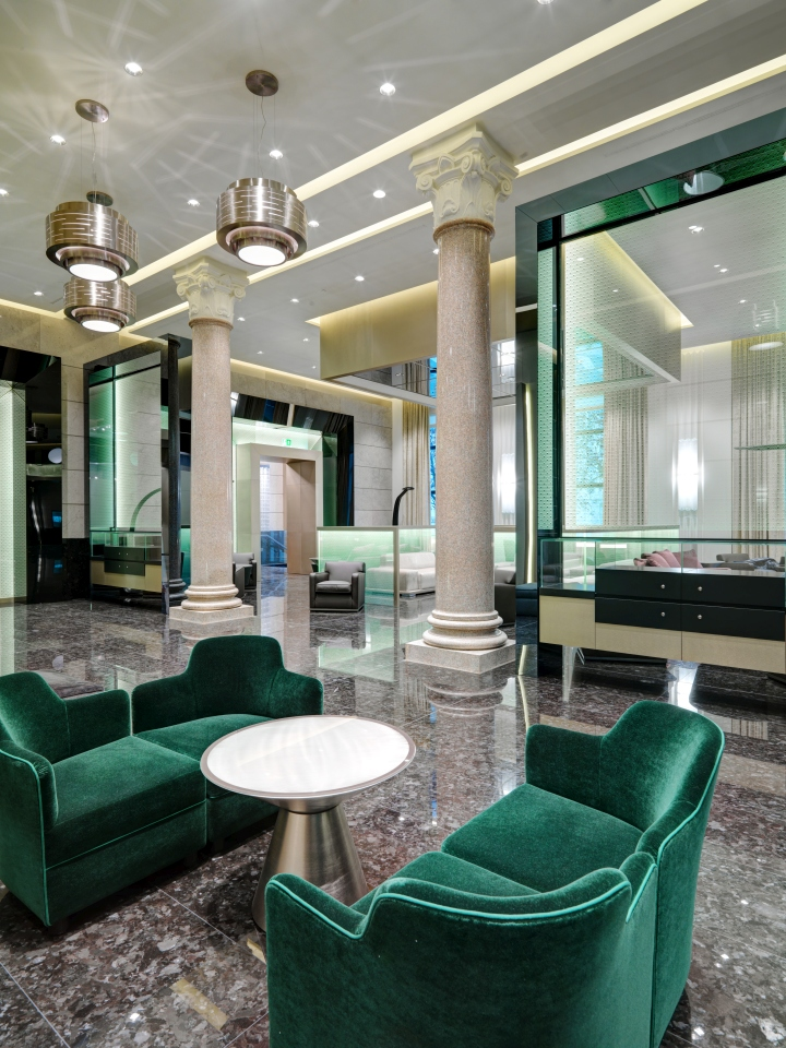 Excelsior hotel gallia by studio marco piva milan italy for Design hotel italia