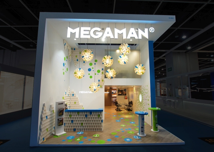 Exhibition Booth Design Hong Kong : Megaman booth by uniplan hk at lighting fair hong