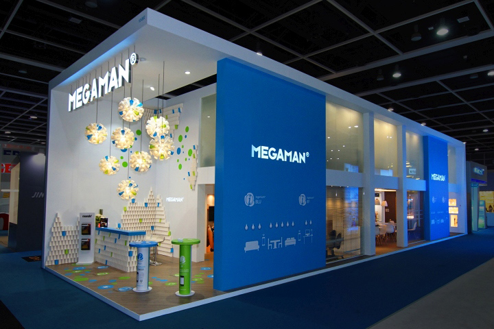 Exhibition Stand Hong Kong : Megaman booth by uniplan hk at lighting fair