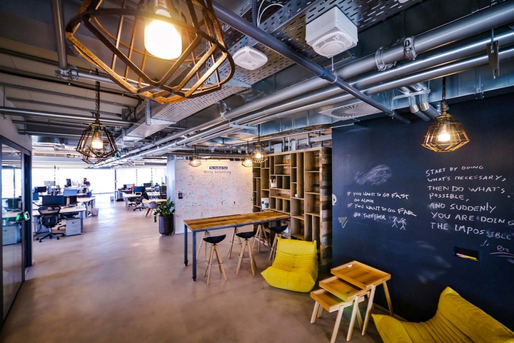 google tel aviv office features. The Staircase Is Composed Of Steel And Rail Metal Mesh Net, A Material That Was Very Popular In Tel-Aviv\u0027s Google Tel Aviv Office Features
