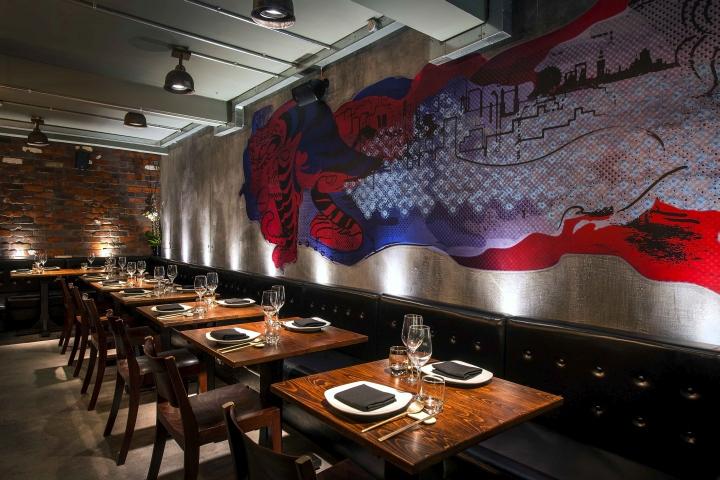 Jinjuu restaurant by tibbatts abel london uk retail