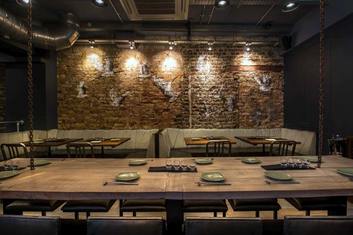 Jinjuu restaurant by tibbatts abel london uk retail for Restaurant design london