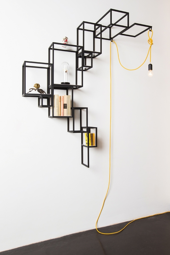 Jointed cube furniture collection by filip janssens retail design blog - Cube wall decor ...