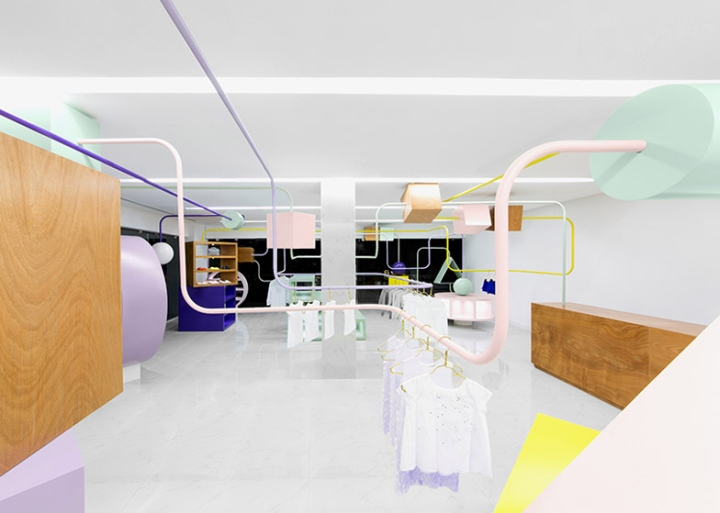 Kindo Children S Boutique Interior Brand Design By Anagrama San Pedro Garza Garc A Mexico