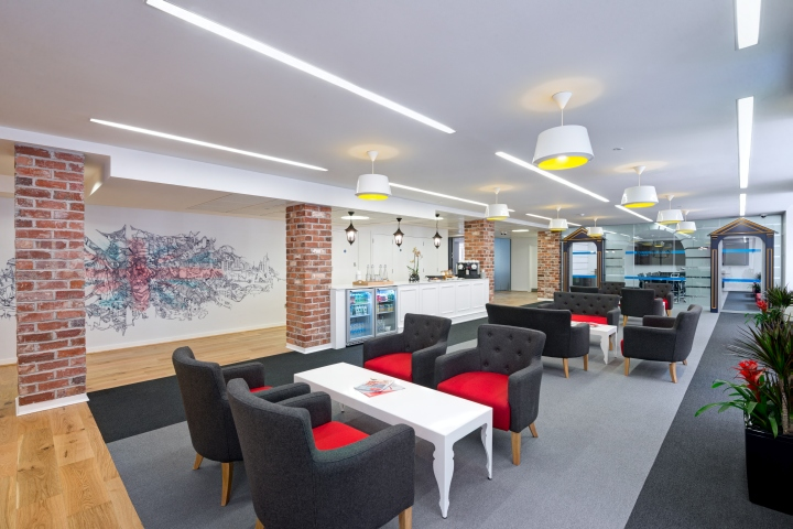 Linkedin office by denton associates london uk retail for Office design london