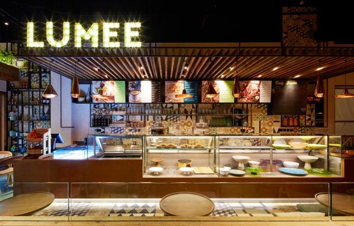Lumee restaurant interior brand design by i am manama