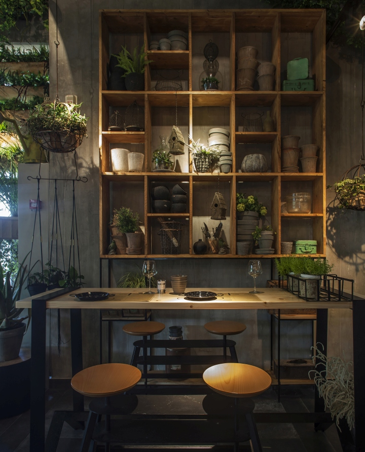 Segev kitchen garden restaurant by studio yaron tal hod for Kitchen set restoran