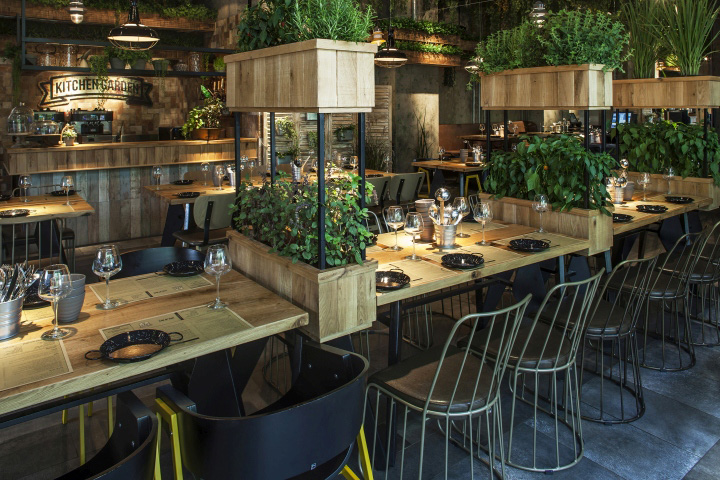 Segev Kitchen Garden Is A New Chef Restaurant Located In Hod Hasharon Near  Tel Aviv. The Restaurant Is Designed Like A Greenhouse With Herbs Hanging  From ...