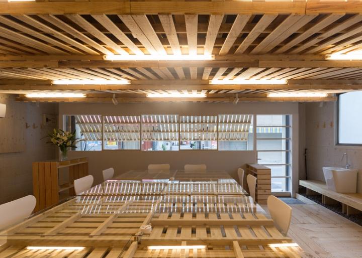 187 Shitomito Palette Temporay Office By Hiroki Tominaga