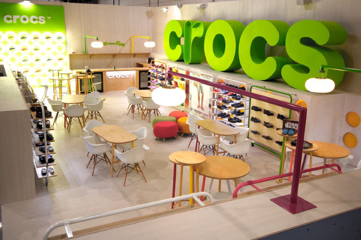 Exhibition Stand Designers Uk : Crocs exhibition stand by mynt design uk retail
