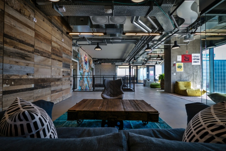 office space lighting. The Prominent Social Interaction Atmosphere That Is So Identified With Facebook \u2013 Reflected In Huge Industrial Flavored Office Space Combines Lighting N