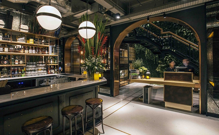Hurricane s grill restaurant by metaphor interior