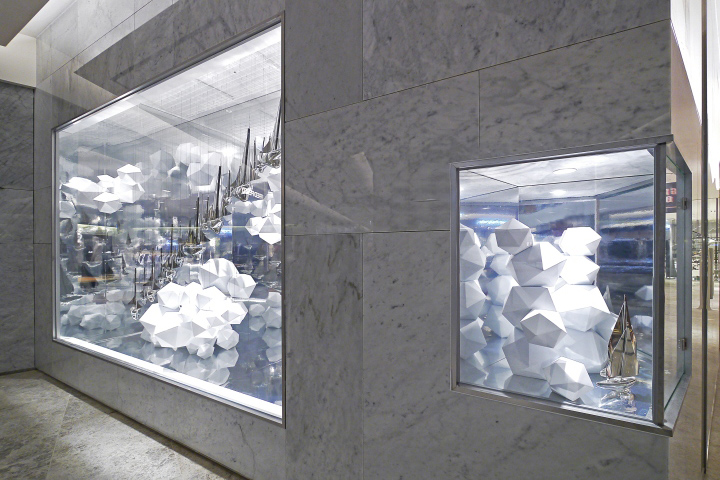 hyundai department store in store installations window display by