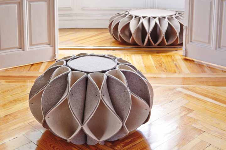 Ruff pouf by romero vallejo for gan retail design blog - Design pouf ...