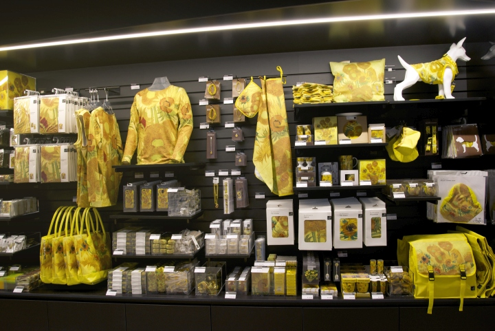 van gogh museum shop by day amsterdam netherlands