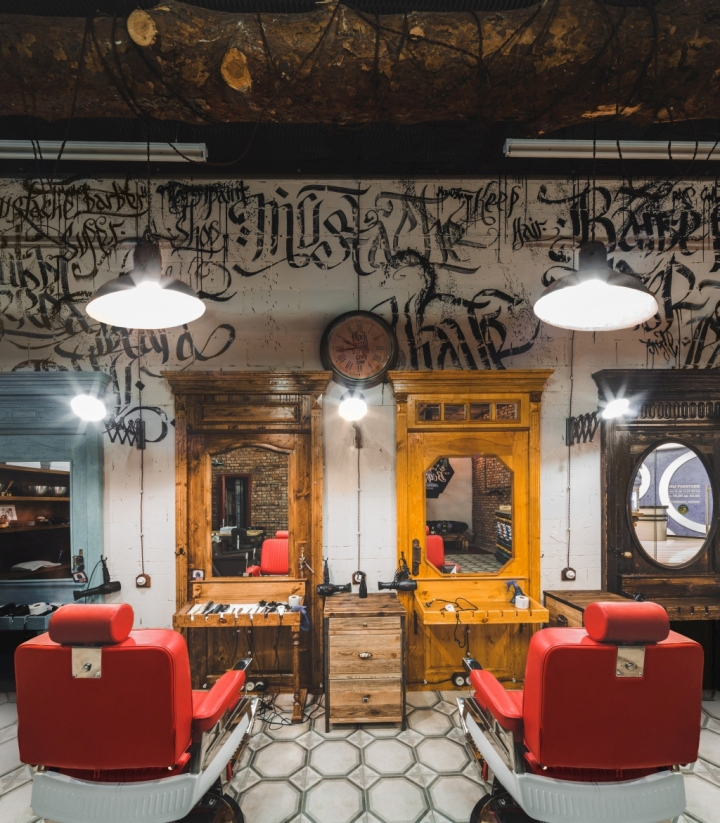 187 Black Beard Barbershop By B Amp V Studio Moscow Russia