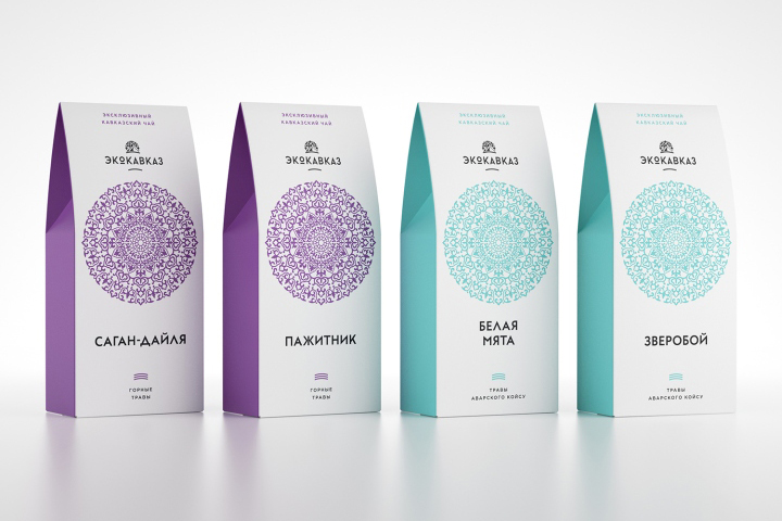 Ecokavkaz Herbal Tea Packaging by Unicorn Studio Moscow » Retail ...