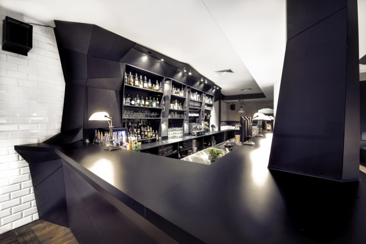 Ferdings bar and restaurant by format works and graphism for Interior design munich