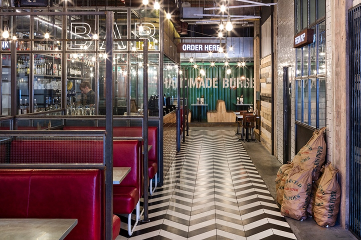 Handmade burger co restaurant by brown studio birmingham