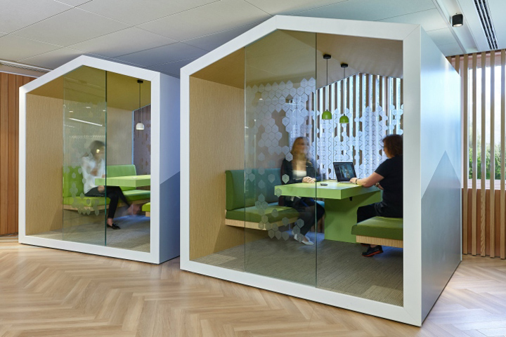 Bsh home appliances home of innovation office by green for Innovative office space ideas