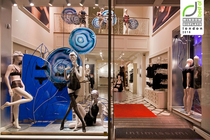 Intimissimi Windows 2015 Fall London UK October 27th By Retail Design Blog