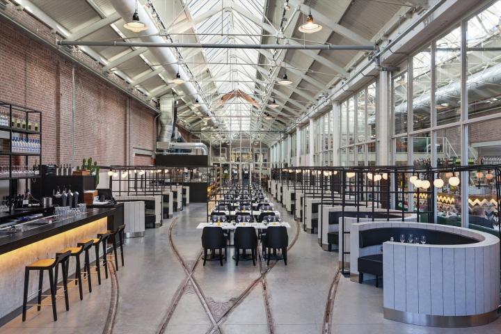 Meat west restaurant by framework studio amsterdam for Industrial design amsterdam