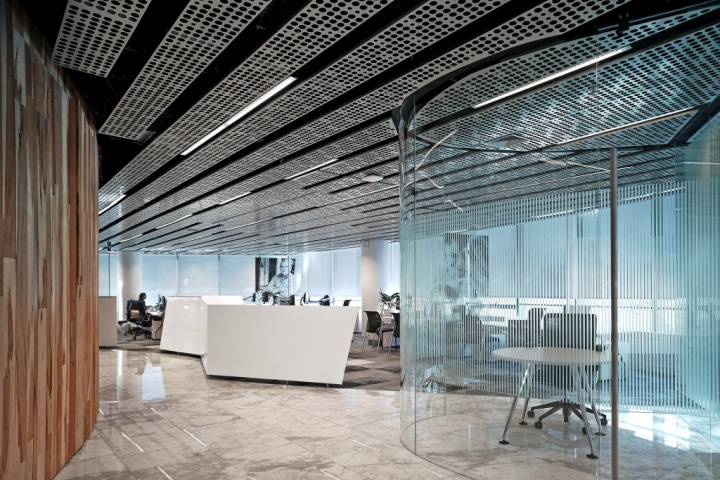 187 Pure Metal Ceiling For Entel Headquarters Santiago Chile