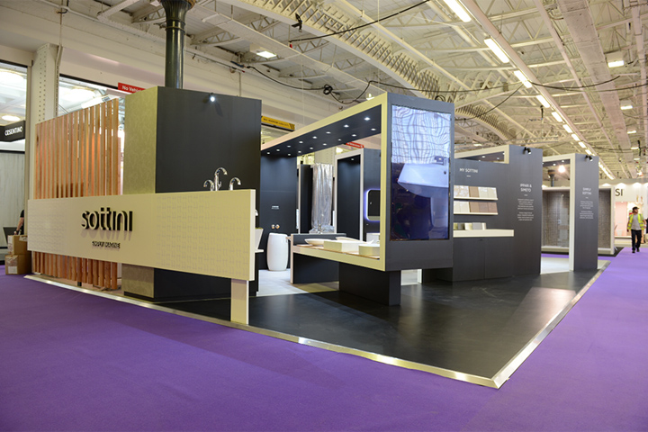 Exhibition Booth Website : Sottini exhibition stand by conran design group at