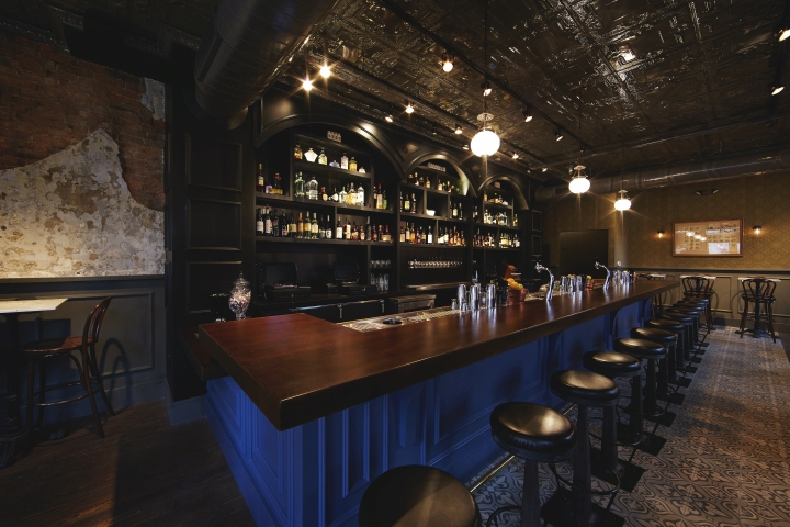 It The Interior Is Warm And Inviting With An Array Of Dark Woods Leather Booths Vintage Moody Lighting