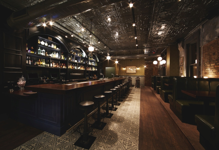 It. The Interior Is Warm And Inviting With An Array Of Dark Woods, Leather  Booths, And Vintage, Moody Lighting.