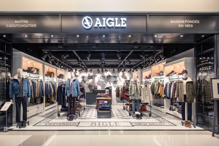 香港aigle品牌服装店形象设计