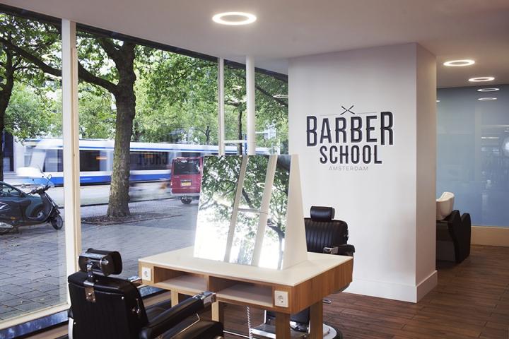 阿姆斯特丹理发店终端形象设计