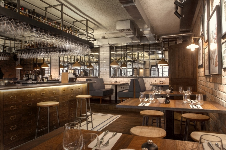 Canto corvino restaurant bar by b3 designers london for Restaurant design london