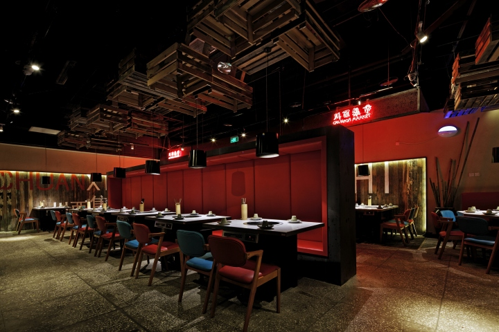 » Chuan Xi Bazaar Hot Pot Restaurant By The Swimming Pool Studio, Nanjing U2013  China