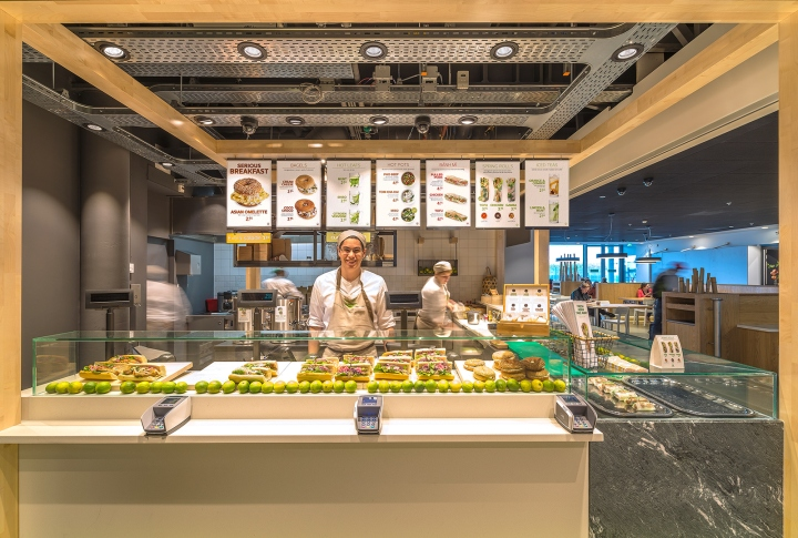 Enoki fast food restaurant by vbat utrecht netherlands retail design blog Kitchen design for fast food restaurant