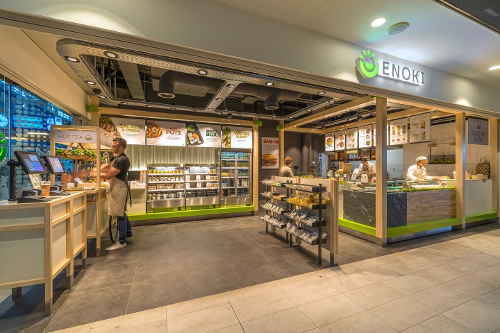 enoki fast food restaurant by vbat utrecht netherlands - Fast Food Store Design