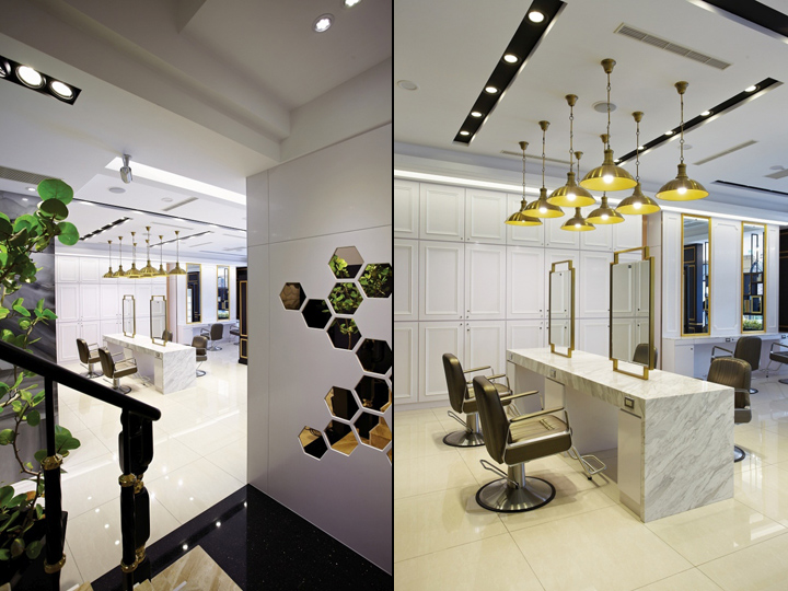 Happy hair salon hair spa by 90id interior design for Hair salon interior design photo
