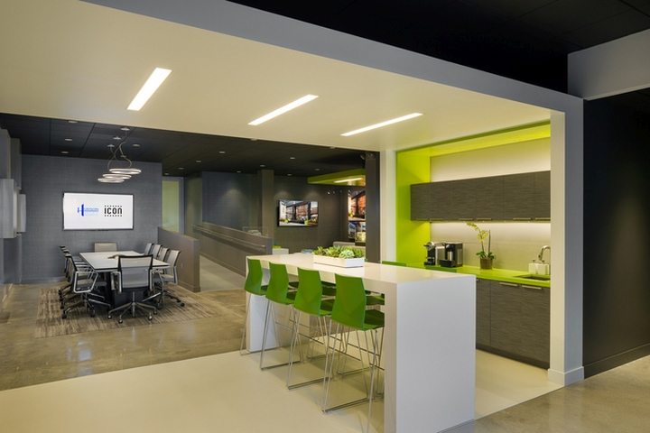 Icon sales offices by kamus keller hollywood for Sales office design