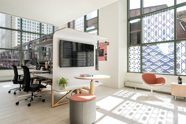 Studio O+A Has Designed The Showroom Of Office Furniture Manufacturer  Kimball Office Located In Chicago, Illinois.