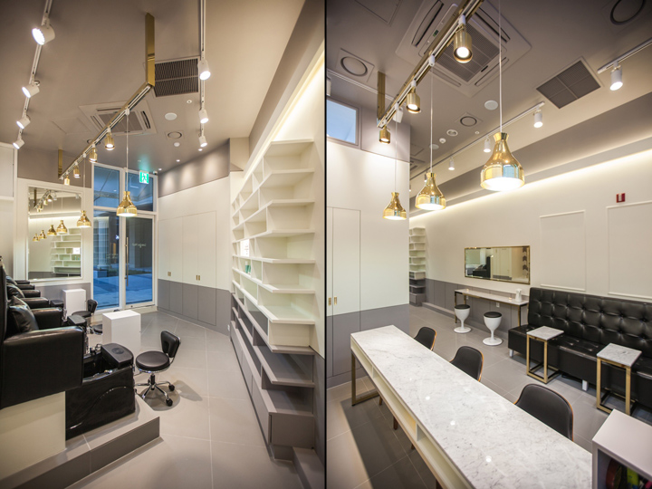 Leega nail salon by ssomoo design suwon south korea - Table bar salon ...