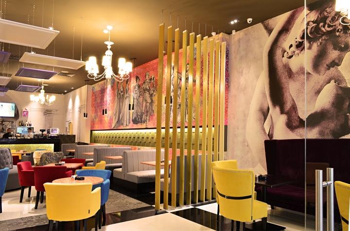 Дизайн стен в ресторане
